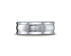 Cobaltchrome 8mm Grooved Comfort Fit Wedding Ring